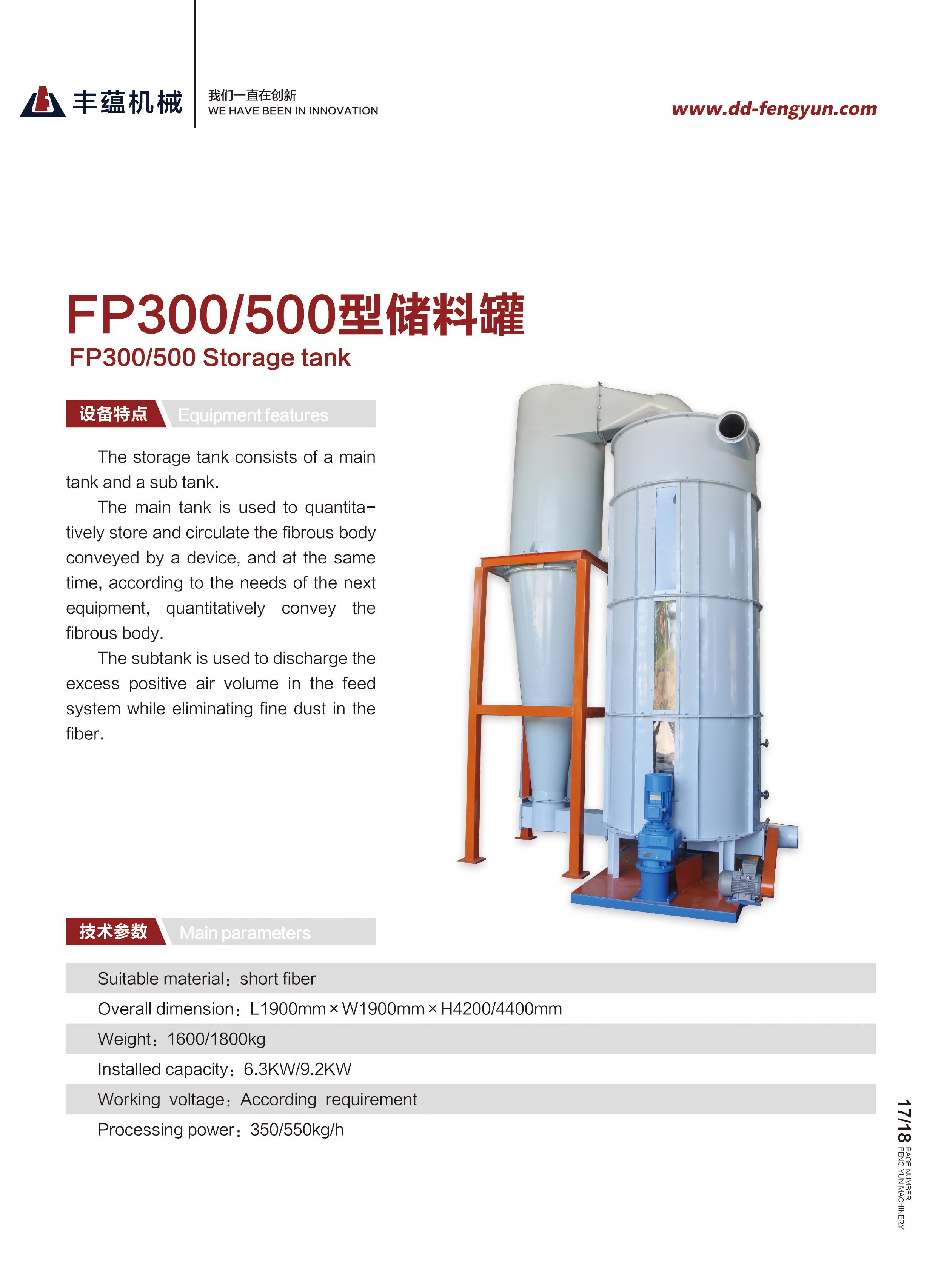 FP300/500型木浆粉碎系统